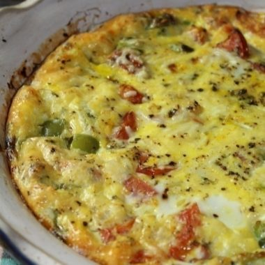 Roasted Tomato and Green Bell Pepper Egg Casserole