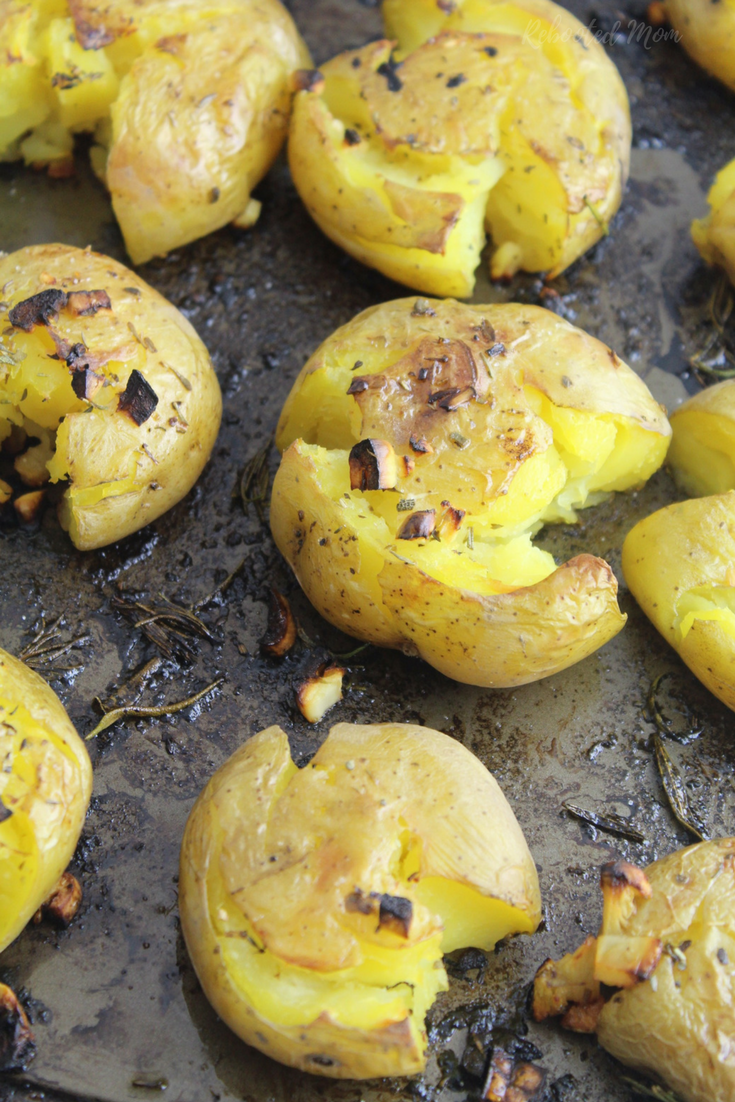 Deliciously soft roasted potatoes are crisped up and flavored with lemon, and Italian seasonings - a delicious addition to any meal.