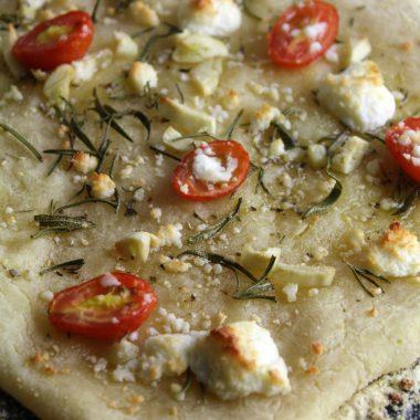 Rosemary Garlic Tomato Flatbread (Grain Free, Gluten Free)