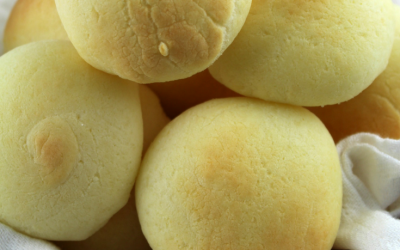 Pan de Yuca is a small, gluten-free cheese bread made with yuca flour (tapioca starch) and cheese - popular in southern Colombia and the coast region of Ecuador.