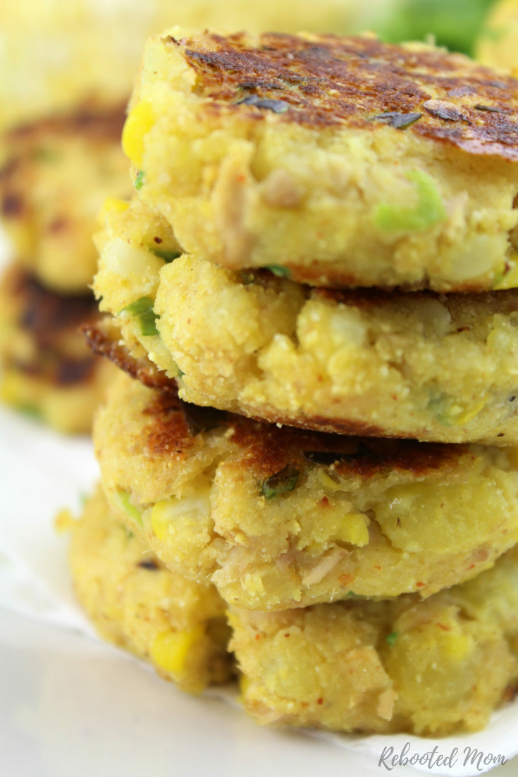 Ready to eat in less than 20 minutes, these potato tuna patties are a quick, healthy, and easy meal that get a boost of protein from tuna.