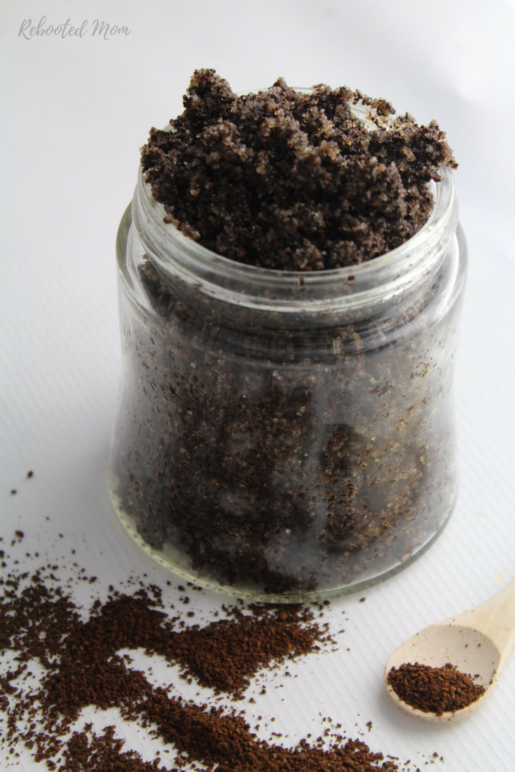 This DIY Coffee Scrub is energizing and nourishing for skin and requires only 3 basic ingredients to put together! It's great for a gift!