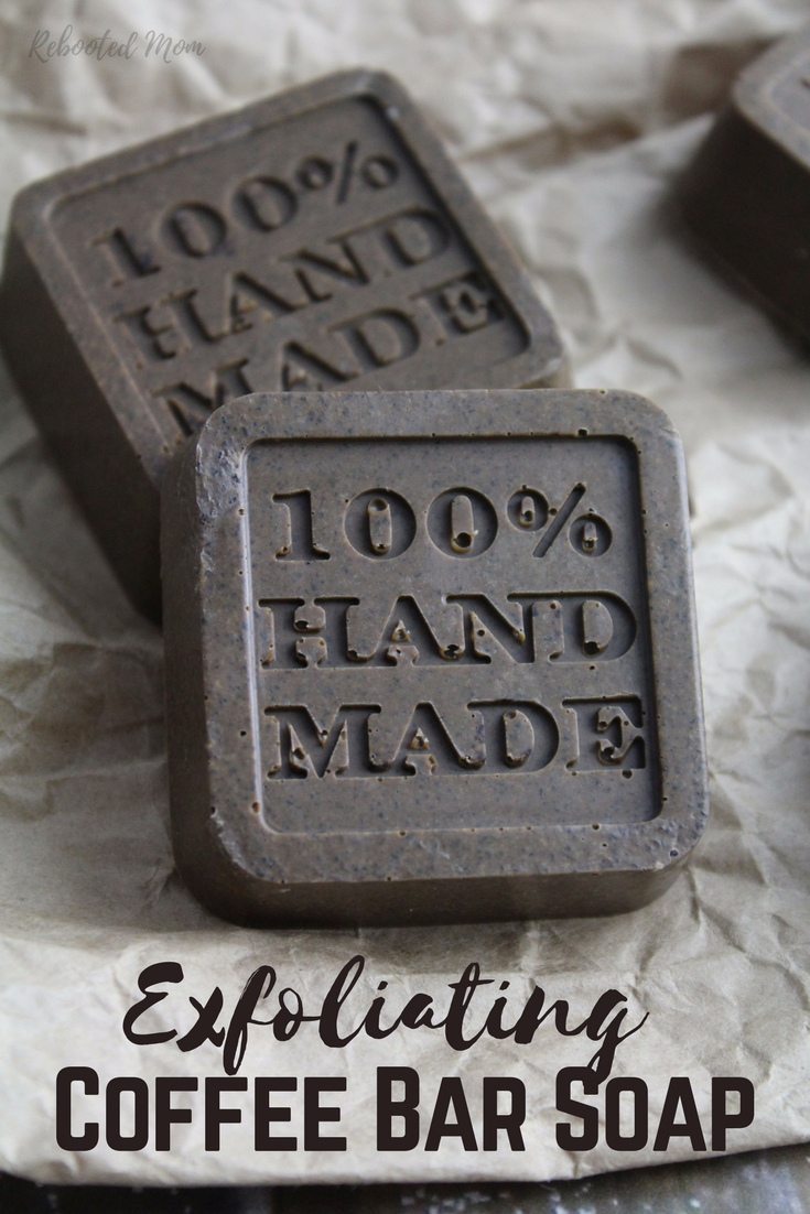 This Simple Exfoliating Coffee Soap is wonderful for your skin and such a great gift idea for family and friends!