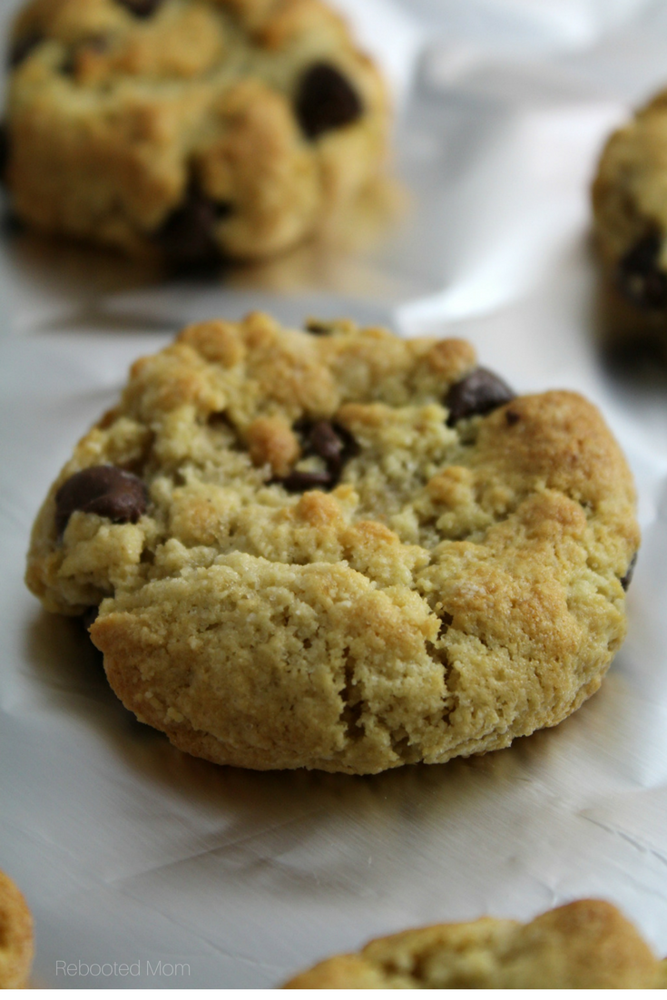 A thick, soft and chewy chocolate chip cookie that's gluten-free, grain-free, and Paleo.