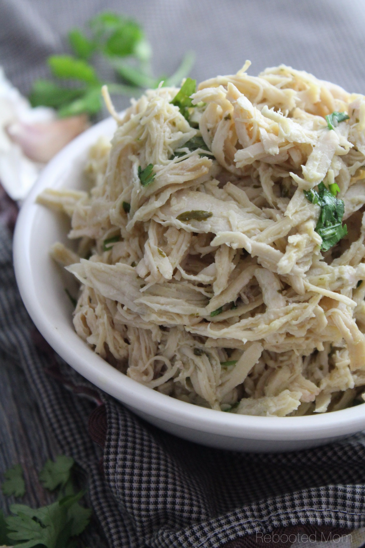 A delicious combination of honey, garlic and ginger gives just the right sweetness to this shredded chicken recipe, which is great over rice or to use as a filling for rolled tacos, burritos and more.