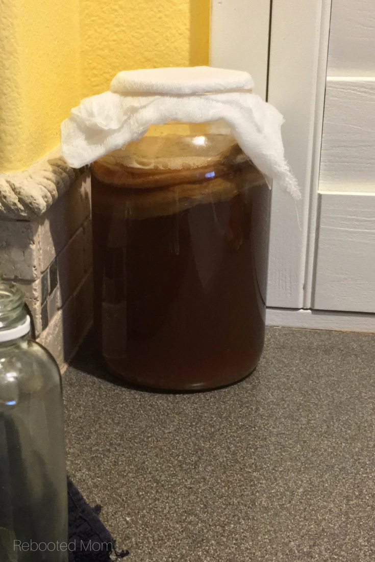 Kombucha is a fermented probiotic beverage of black or green tea and sugar, that can be easily made at home with a tremendous cost savings. #probiotic | #fermented | #kombucha