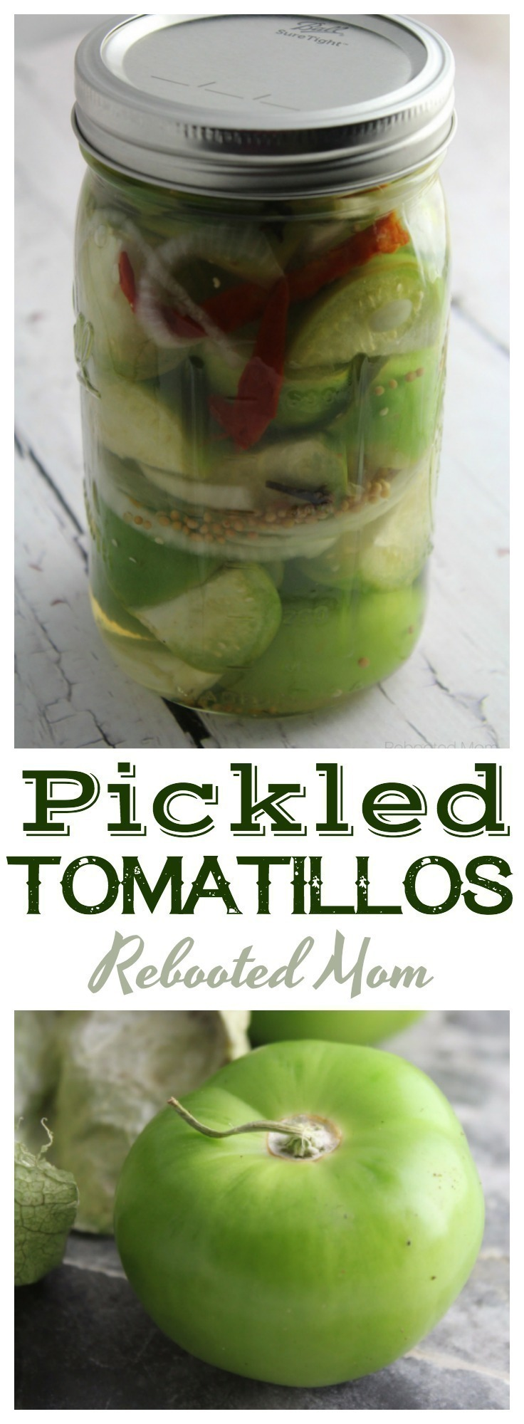 A flavorful brine makes these pickled tomatillos incredibly delicious as a healthy, pickled condiment that can be used in so many ways!