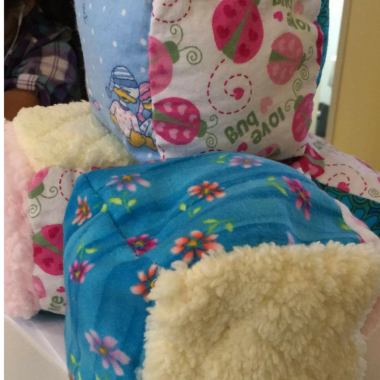 How to Sew Soft Rattle Baby Blocks