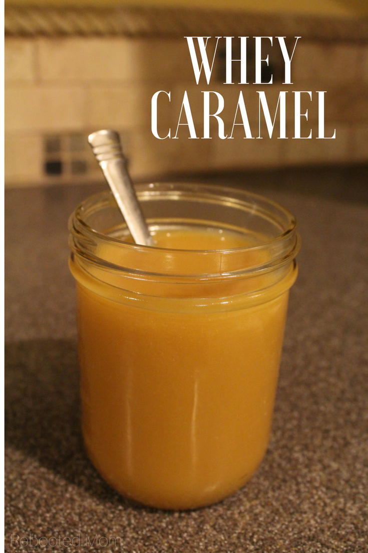 Transform whey from cheese or yogurt making into a delicious, whey caramel that's perfect for drizzling on desserts, pancakes or even ice cream.   #whey #caramel
