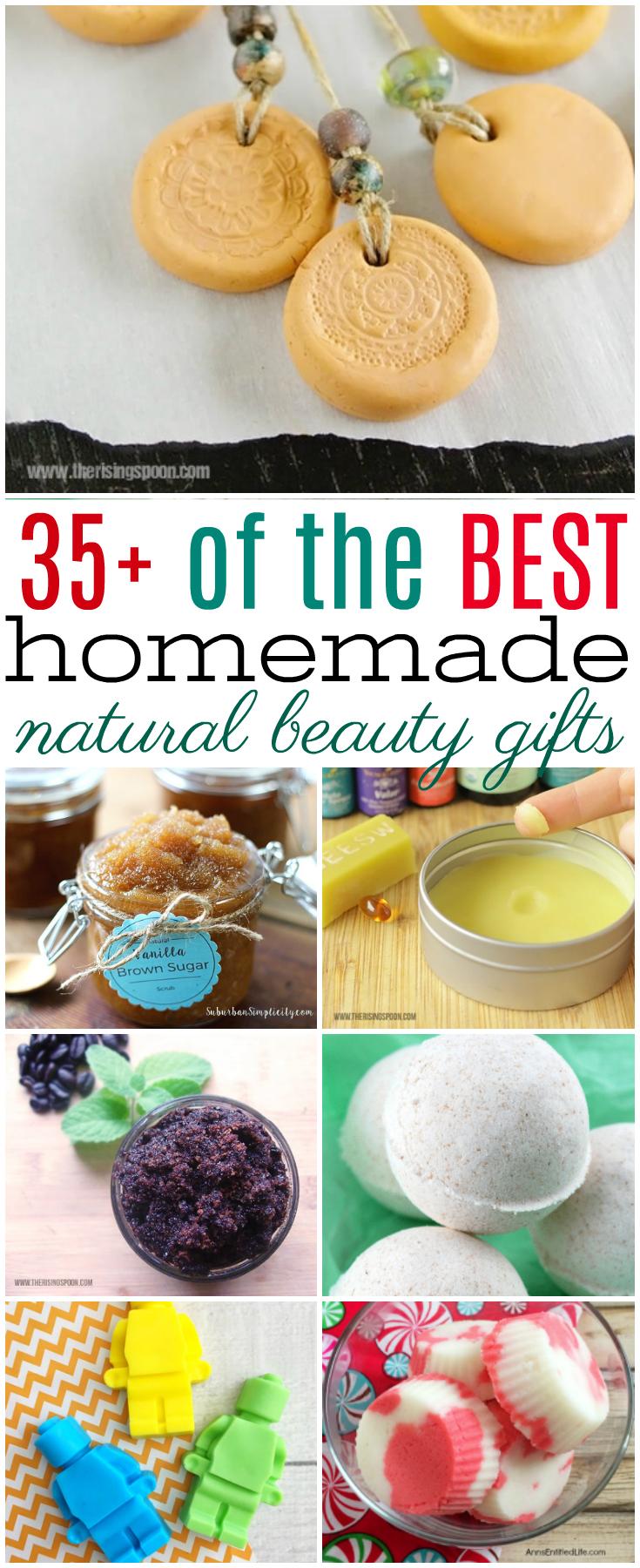 Some of the best gifts are those that are made at home. Here are over 35 of the BEST homemade natural beauty gift ideas. #essentialoils #gifts #homemade #DIY #beauty