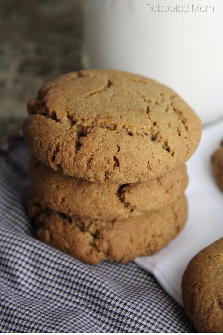 These soft and chewy ginger cookies are a wonderful welcome to crisp fall weather!  This simple recipe is gluten-free and grain-free.