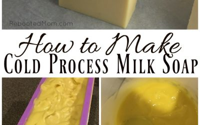 Cold process milk soap is wonderful for nourishing dry skin - it's also a great way to use up extra milk and can even be made with breast milk!  #coldprocesssoap #soap #soapmaking #breastmilk #milksoap