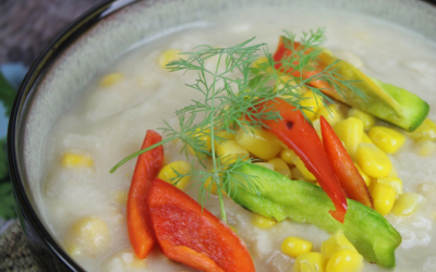 This rich and creamy Instant Pot Potato and Corn Chowder is perfect for chilly nights, and is incredibly easy to whip up with simple pantry ingredients! #instantpot #potato #corn #soup #chowder
