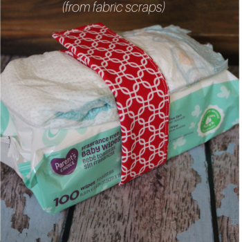 Easy Sew Diaper and Wipes Belt (from fabric scraps)