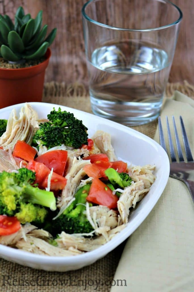 Pressure Cooker Lemon Pepper Chicken with Broccoli & Tomatoes - Reuse, Grow, Enjoy