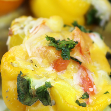 Omelet Stuffed Bell Peppers