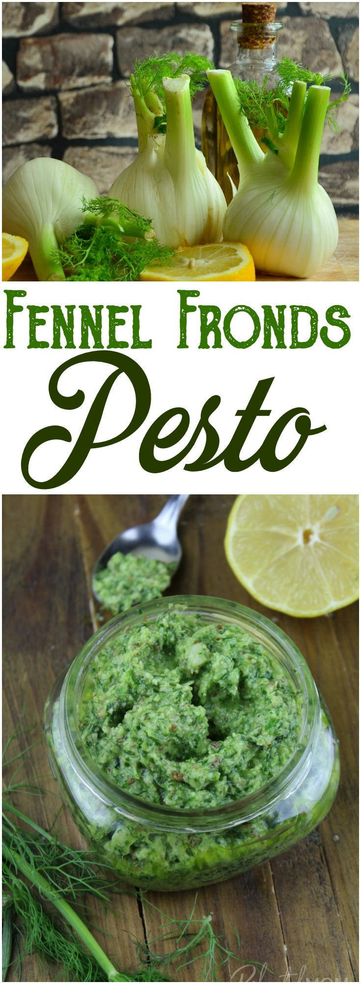 Fennel Fronds Pesto: Combine a few cups of fennel fronds with simple ingredients to make a delicious, freezer friendly fennel fronds pesto.   #fennel #fennelfronds #pesto #cleaneating #healthyrecipes