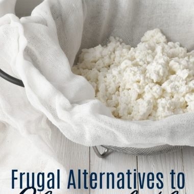 Frugal Alternatives to Cheesecloth