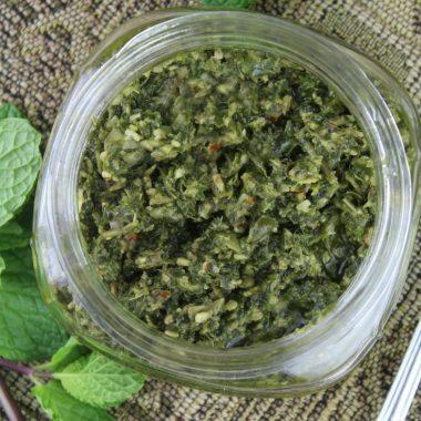 Fresh Mint Pesto