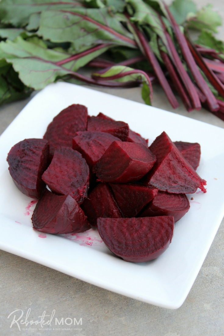 Whole beets cook up quickly and easily in the Instant Pot! #InstantPot #beets #wholebeets #pressurecooker #vegan #vegetarian #healthy