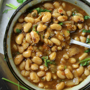 Mexican Charro Beans (Instant Pot or Slow Cooker)