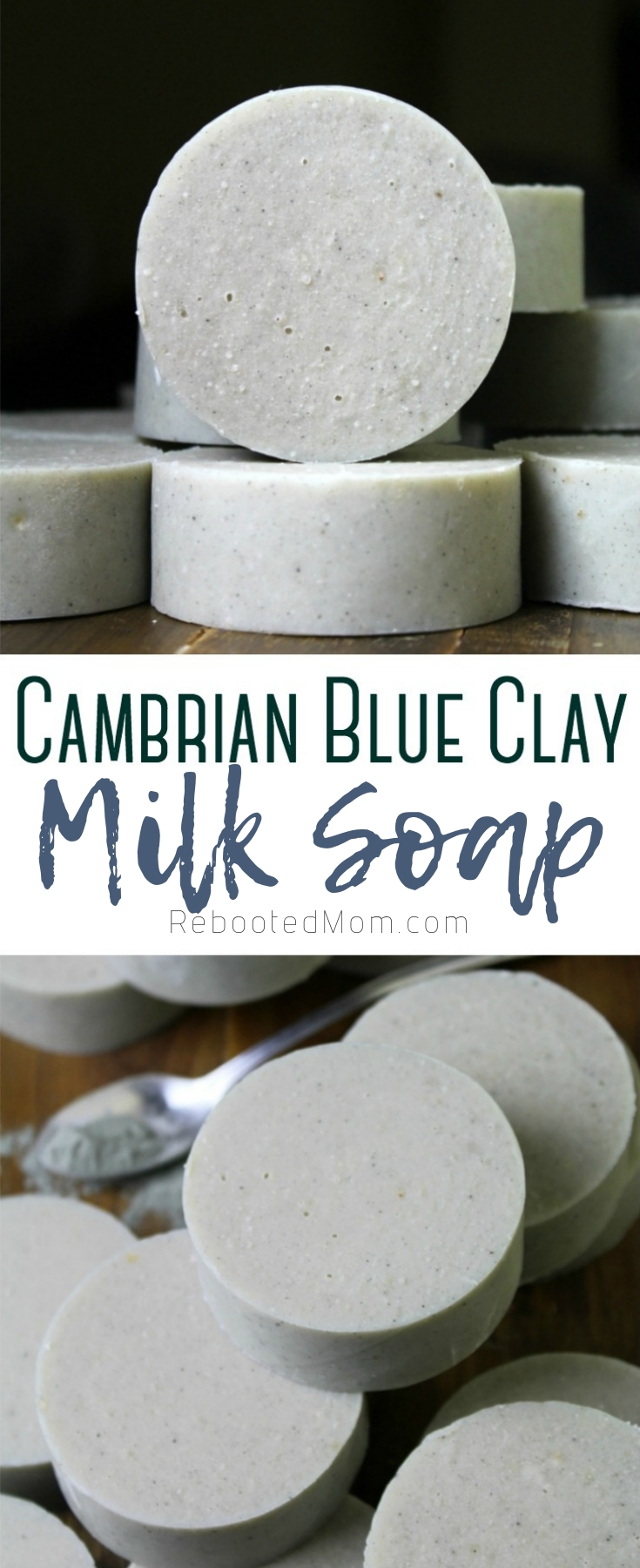 Cambrian Blue Clay and Milk Soap, made with raw milk, grass-fed and finished tallow and Cambrian blue clay. Great for sensitive skin!