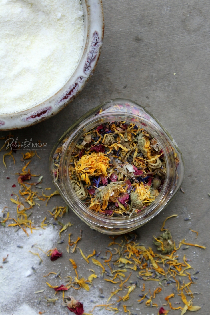 Relaxing Herbal Bath Soak - Rebooted Mom