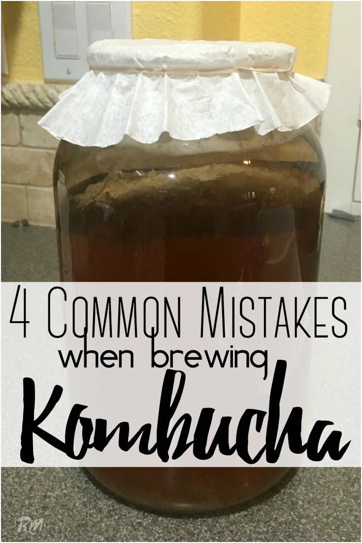 4 Common Mistakes to Avoid When Making Kombucha at Home and our tips for brewing the best Kombucha.  #Kombucha #Mistakes #guthealth