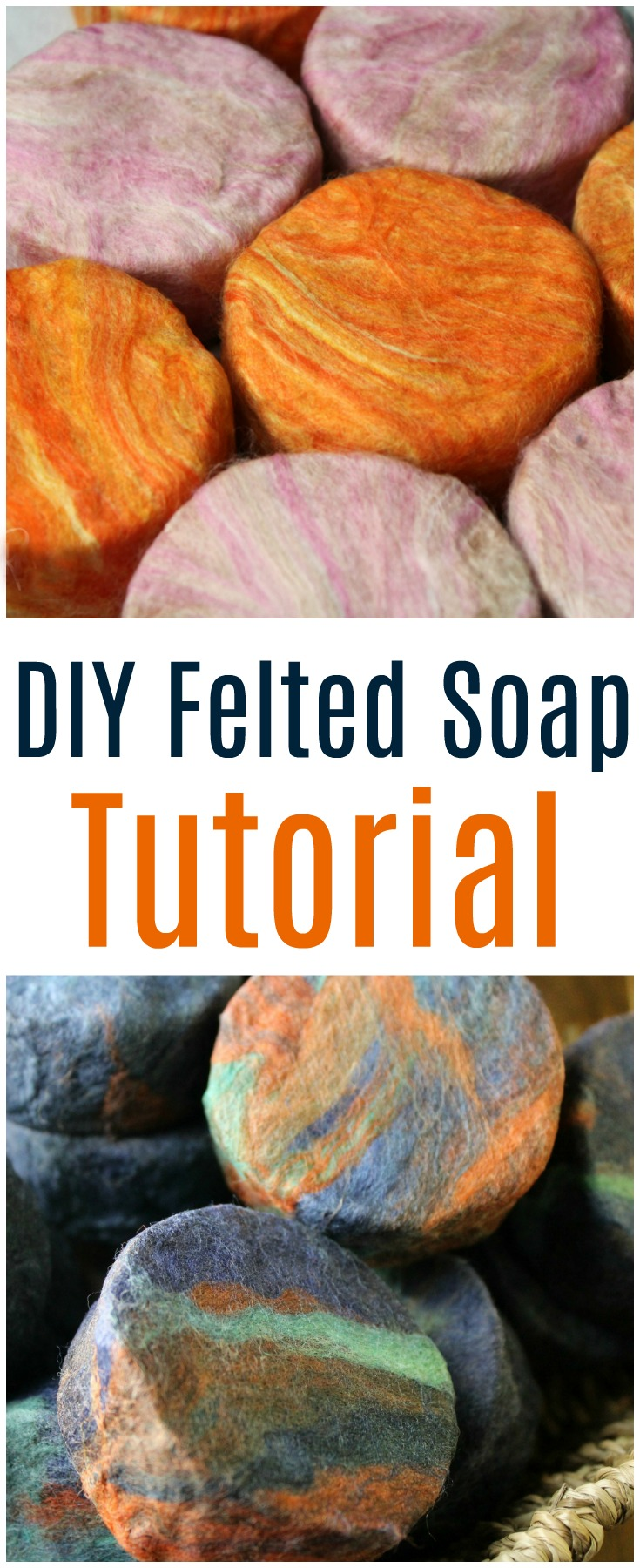 Learn how to make felted soap easily with this DIY Felted Soap tutorial. These soaps are a unique gift and are easy to make at home.  #feltedsoaps #soap #gifts #wool #merinowool #soapmaking #giftsforhim #giftsforher