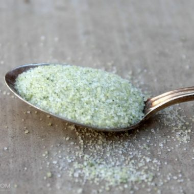 Homemade Mint Sugar with Fresh Mint