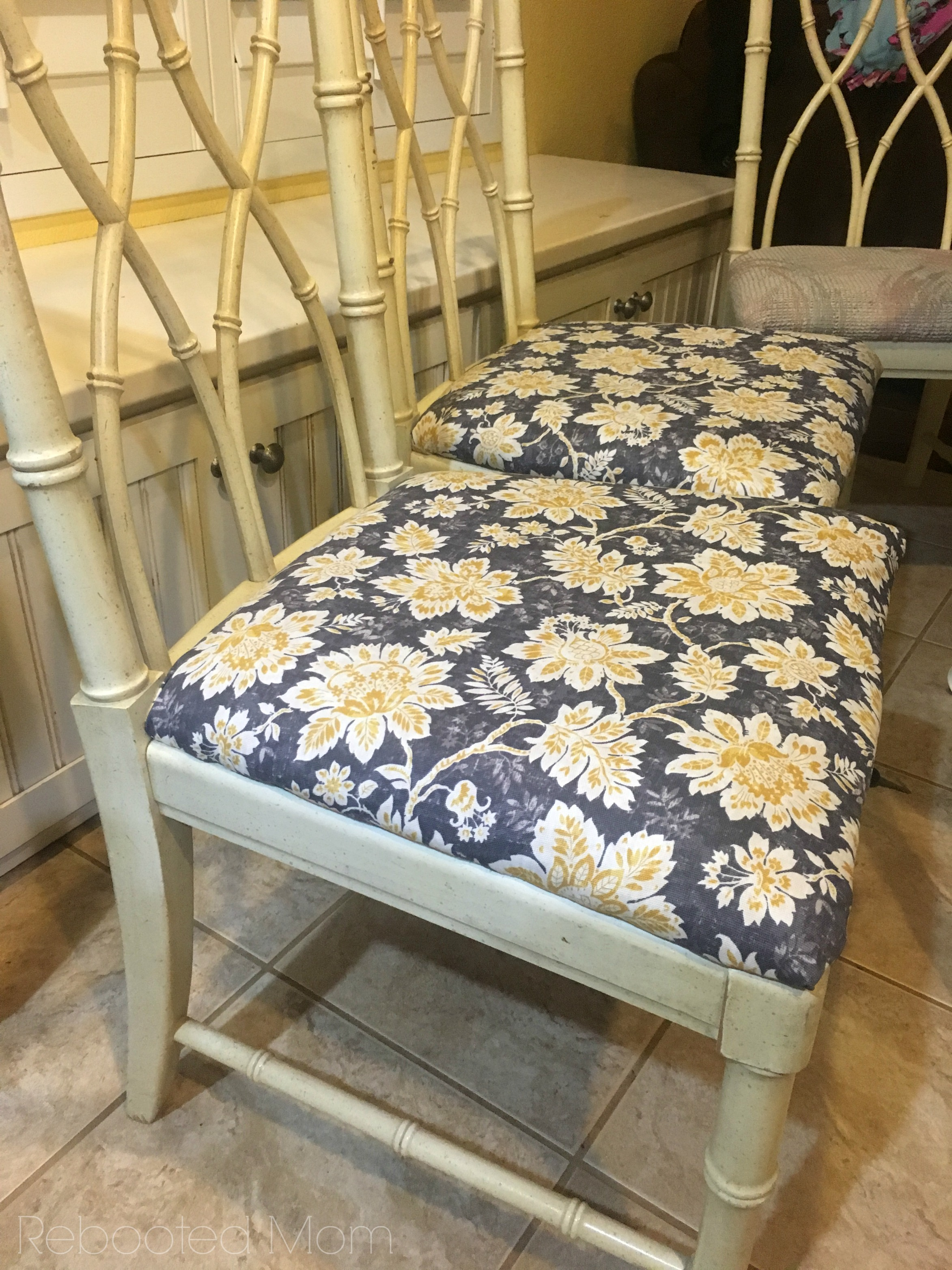 How To Recover Chair Seat Cushions Rebooted Mom
