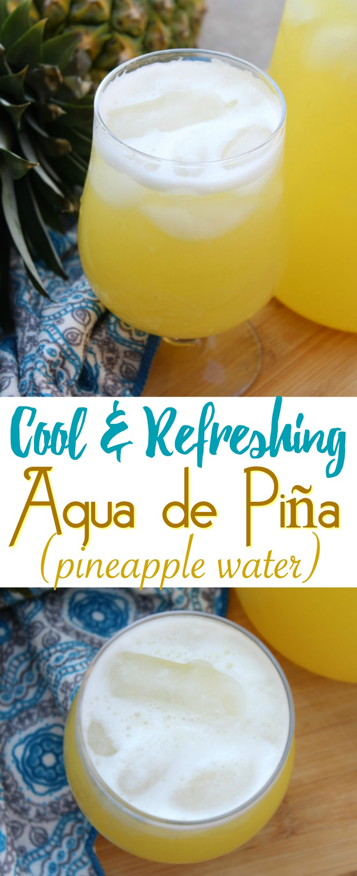 Summer is the best time of the year to enjoy Agua de Piña, or Pineapple Agua Fresca. It's deliciously sweet and easy to make at home!