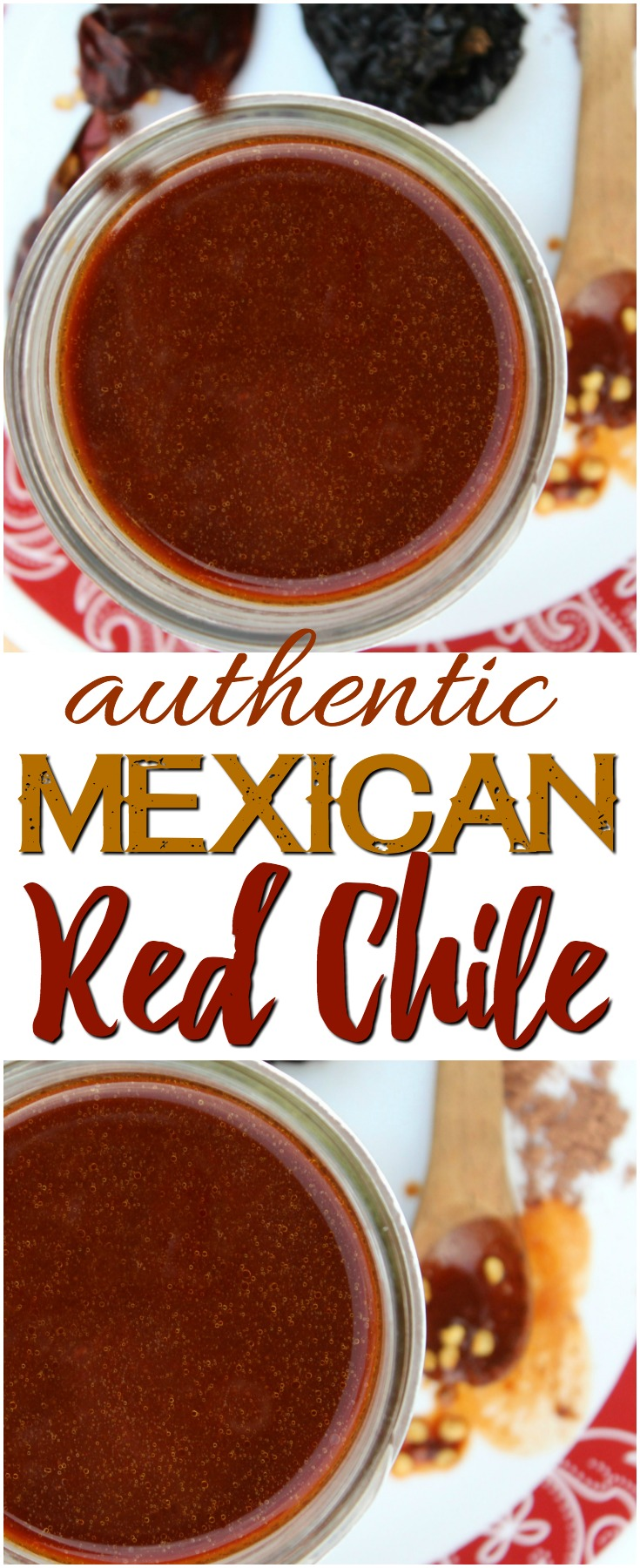 An easy yet flavorful authentic red chile sauce that can be used as a staple in a variety of Mexican recipes - from tamales to enchiladas, posole & more.
