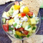 Mango Shrimp Ceviche with Avocado and Tortilla Chips