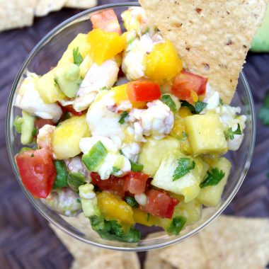 Mango Shrimp Ceviche with Avocado