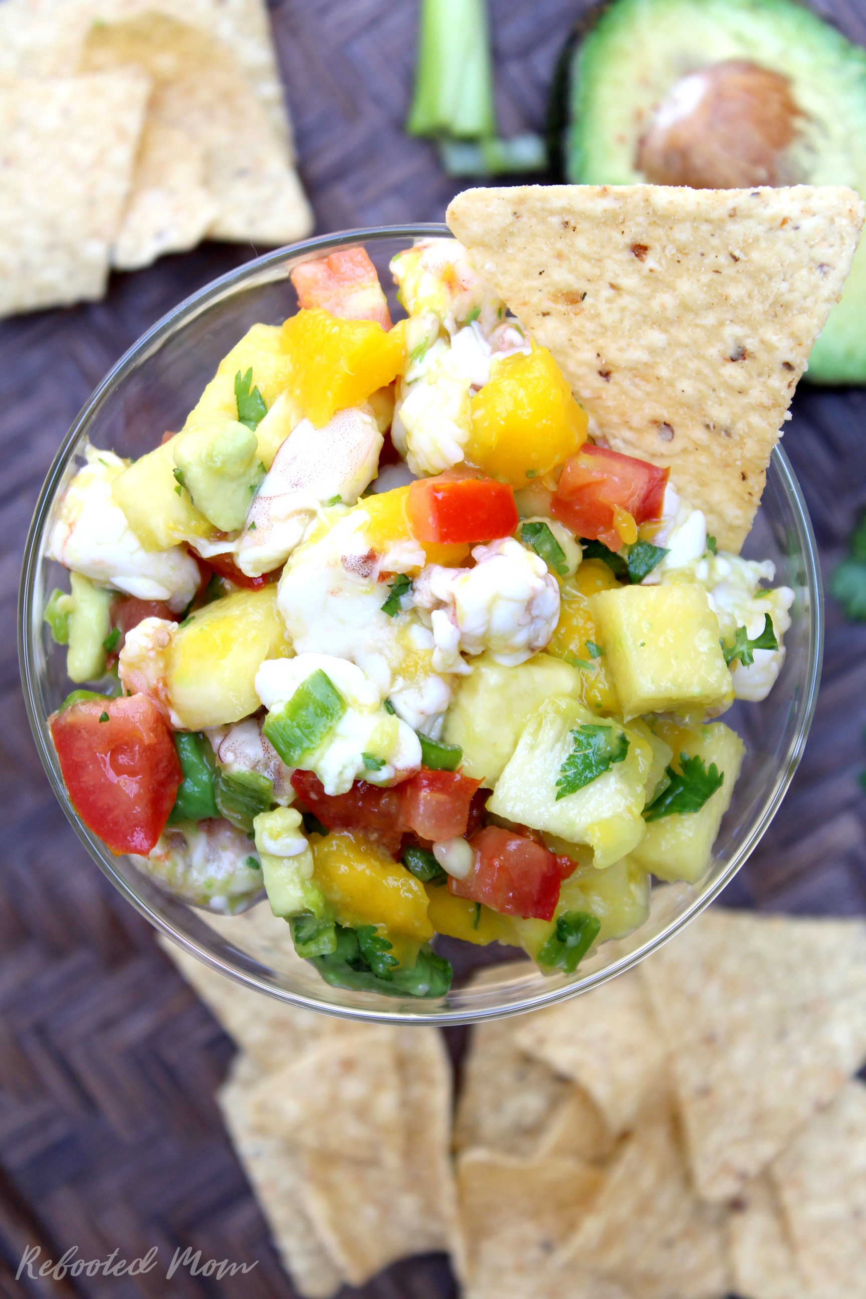 Mango Shrimp Ceviche With Avocado Rebooted Mom