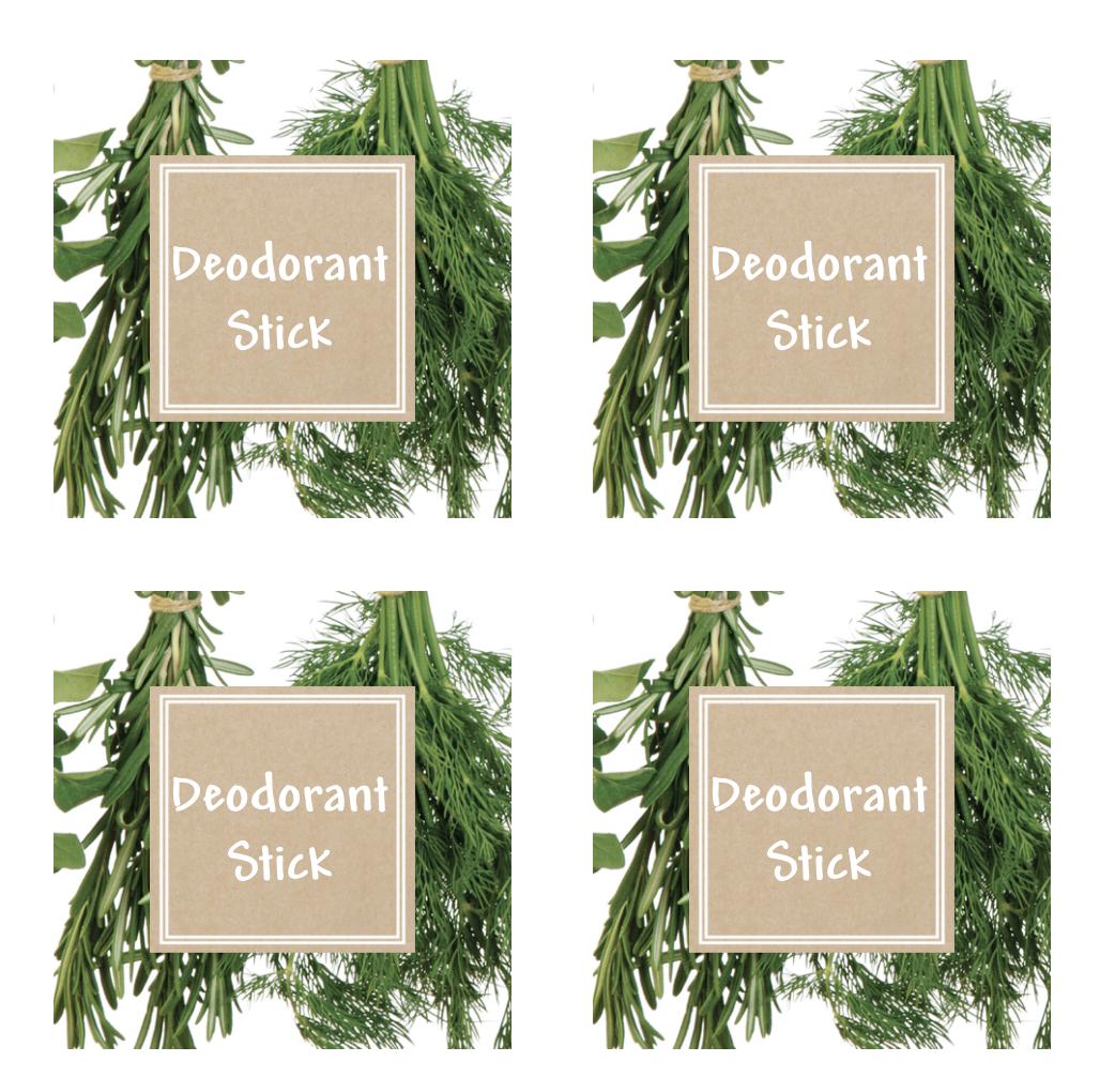 Deodorant Stick Labels - RebootedMom.com