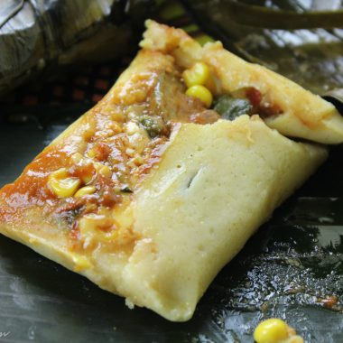 Vegetarian Banana Leaf Tamales Recipe