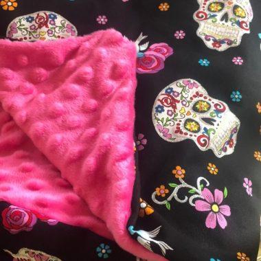 Easy Sew Día de Muertos Cuddle Blanket