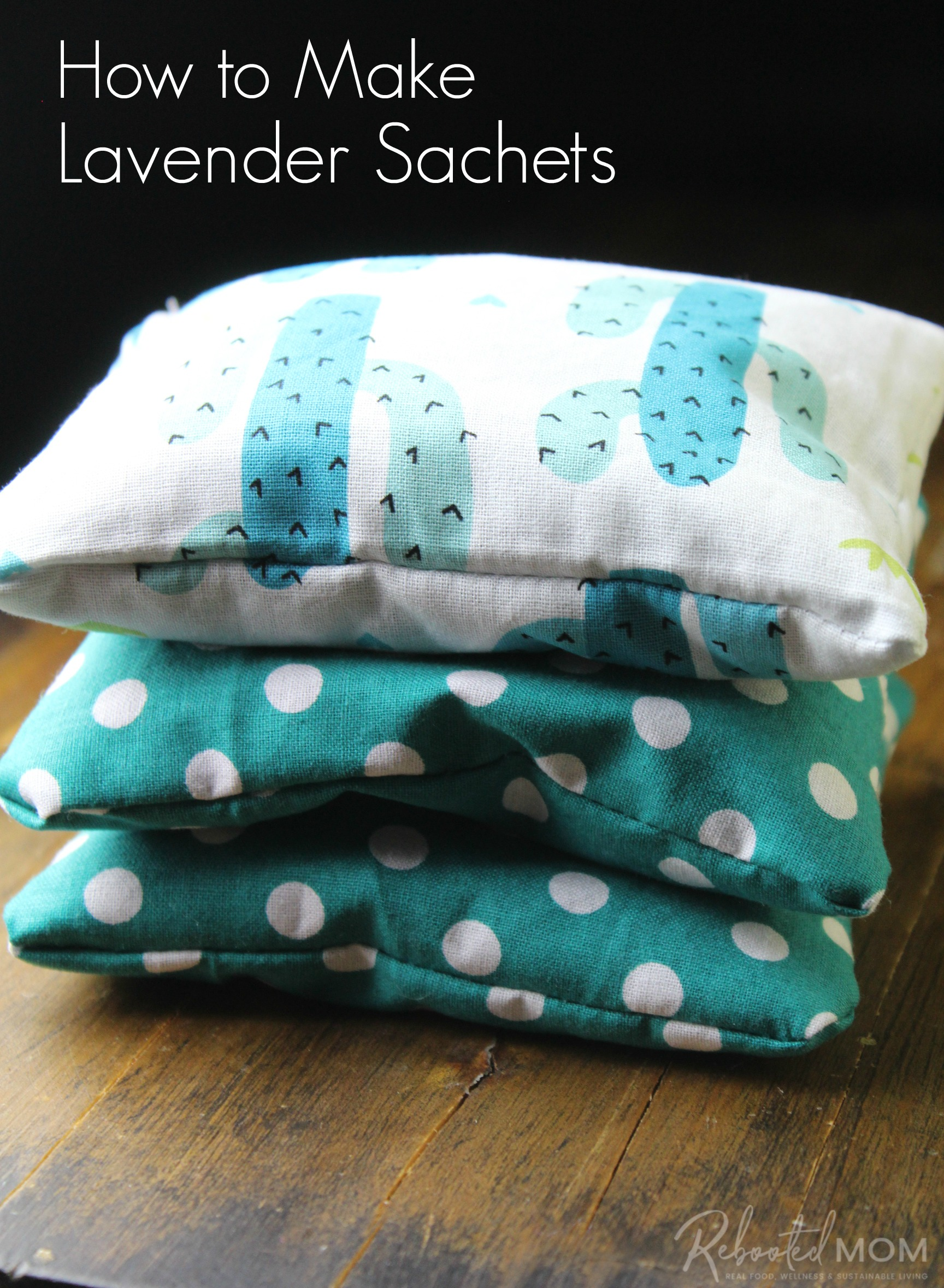 Learn how to sew and fill these lavender sachets with this easy tutorial. Make your own sachets to gift using simple scrap fabric and dried lavender.
