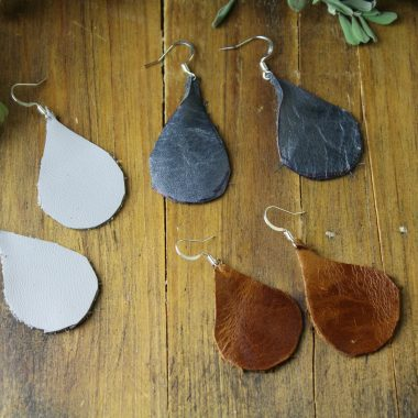 How to Make Lightweight Leather Earrings