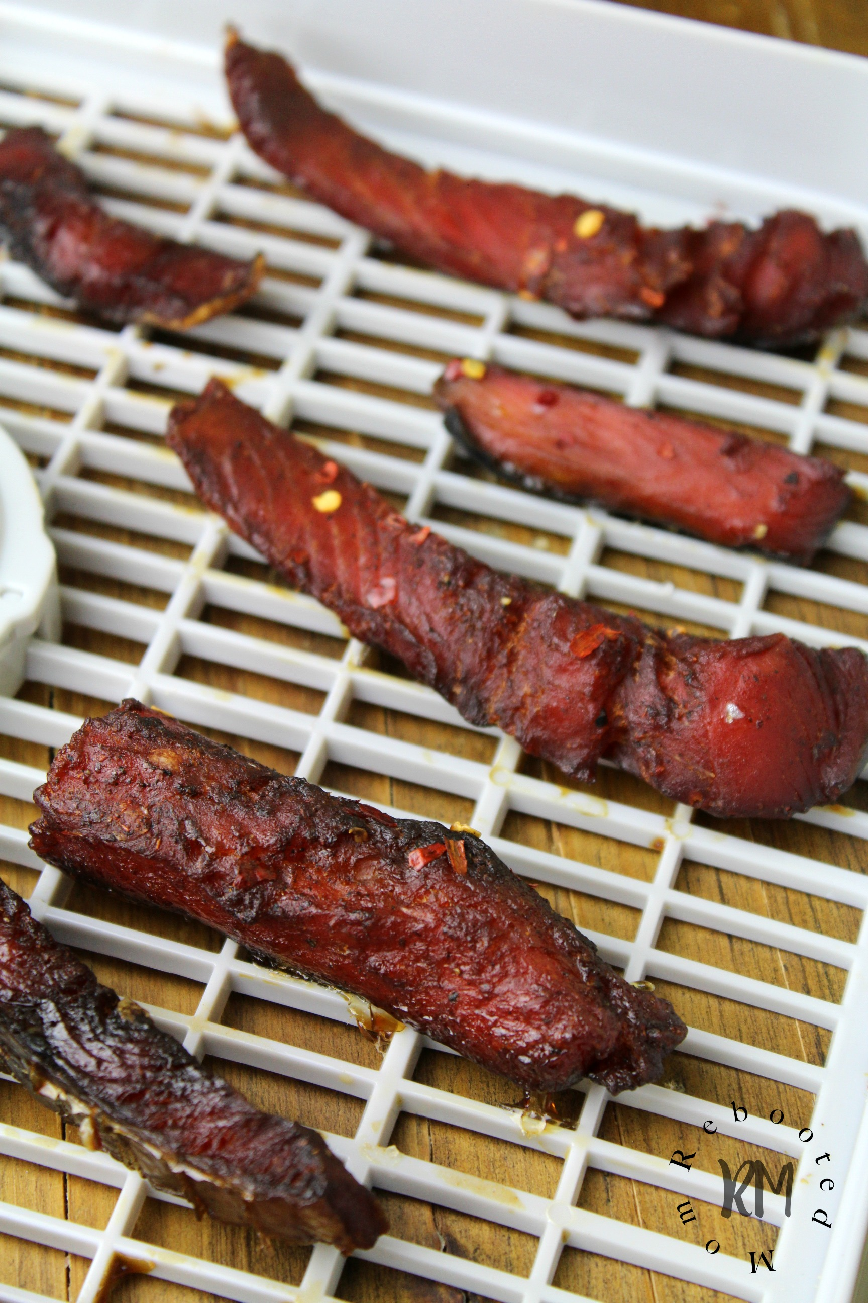 Made with simple ingredients, this salmon jerky will hit the spot as a satisfying snack with flavor that's both sweet and smoky.
