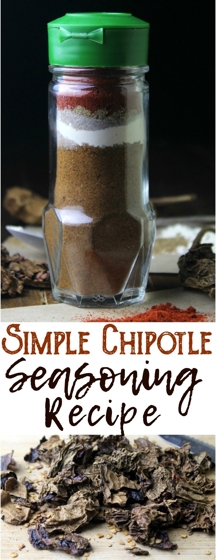 Use this easy and inexpensive homemade chipotle seasoning recipe to add flavor and a smoky heat to all of your favorite foods.