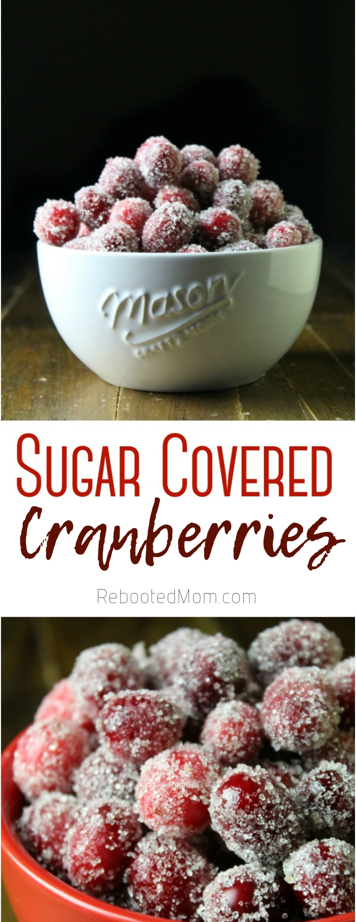Learn how to make sugar covered cranberries. These morsels of yum are a combination of tangy and sweet and  make a delicious appetizer or snack!