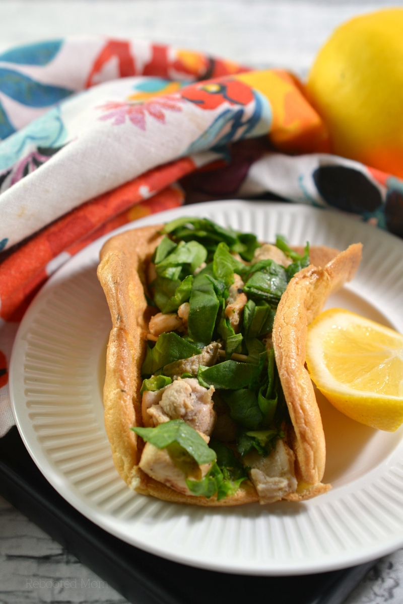 These low-carb lemon chicken cloud bread tacos are not only healthy, they are high in protein and the perfect way to blow your tastebuds!