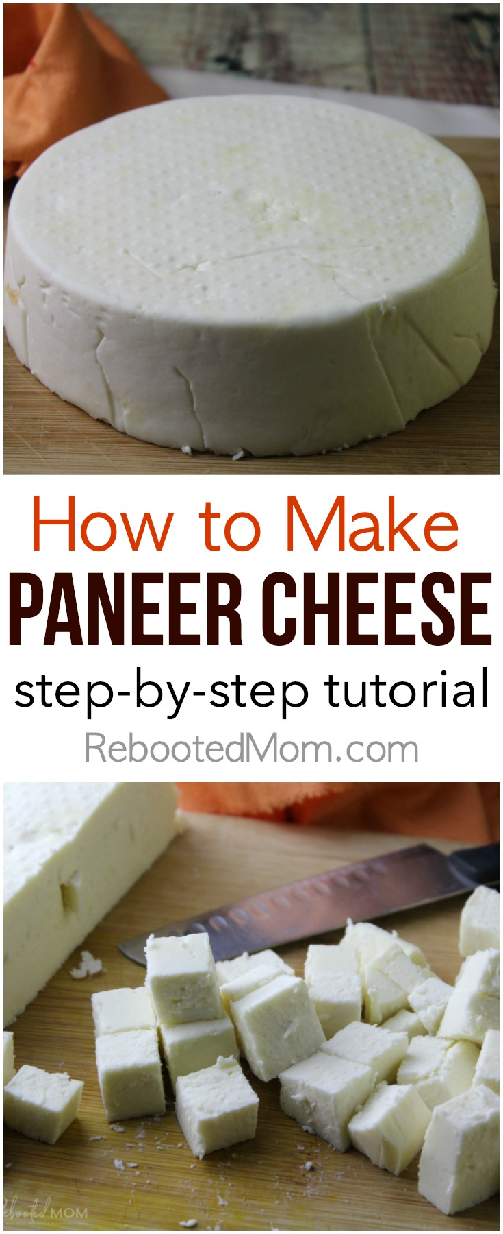 Learn how to make paneer cheese at home with these simple step by step directions that will allow you to make this deliciously soft, cubed cheese.