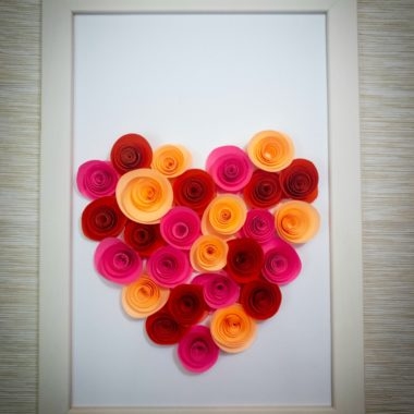 Paper Heart Rose Craft