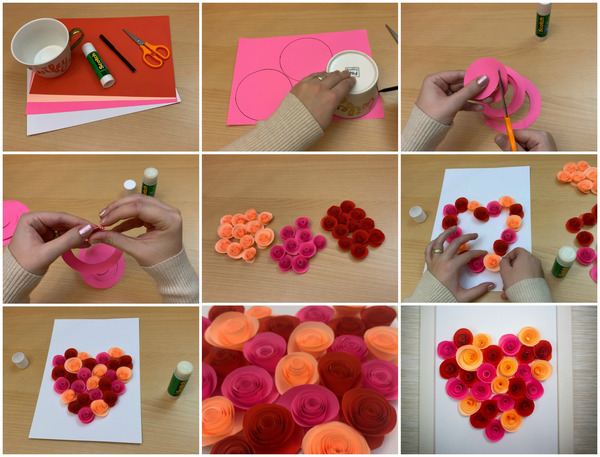 It's all about hearts and roses with this easy Paper Heart Rose Craft, which is a wonderful way to help kids develop patience and fine motor skills.