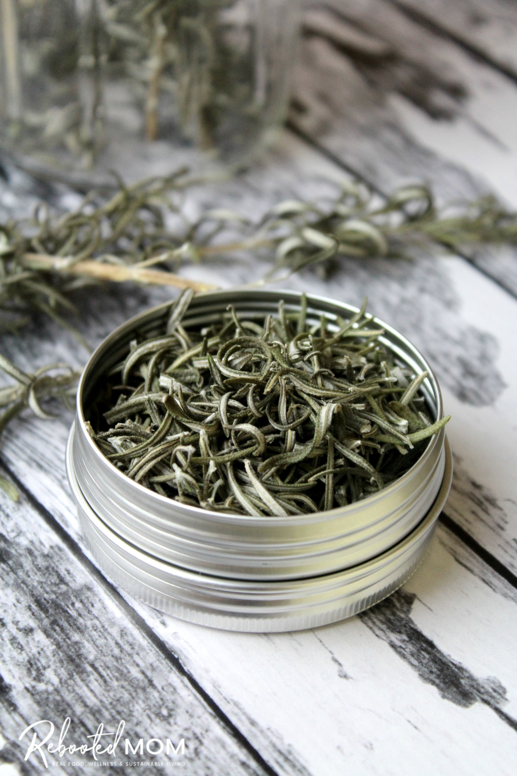 Learn how to dry rosemary in three easy methods - baking in the oven, air drying and using a dehydrator. Keep your rosemary fresh for a very long time.