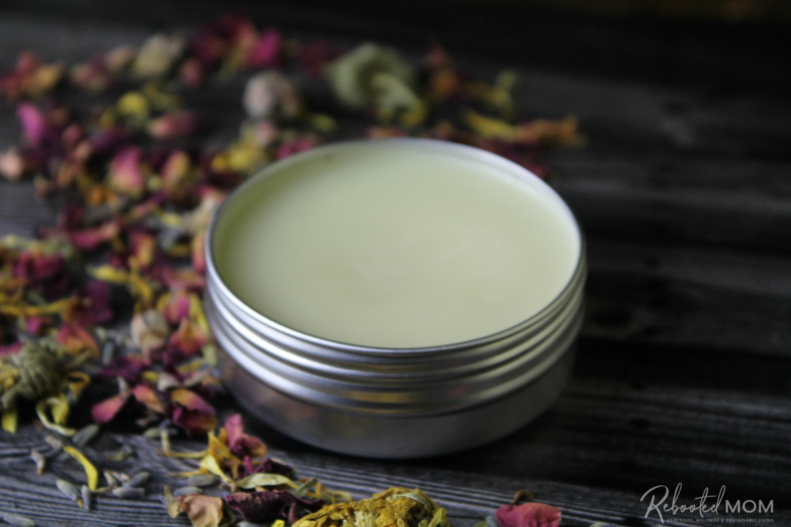 This herbal tallow balm is wonderful for supporting healthy skin and is easy to make at home with a few simple, skin-nourishing ingredients!  #tallow #beauty #balm #herb #herbal #herbinfused #beautybalm #skincare #DIY